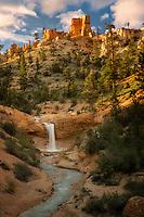 Waterfalls on Tropic Ditch. Bryce National Park, Utah