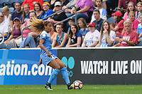 Bridgeview, IL - Sunday August 20, 2017: Casey Short during a regular season National Women's Soccer League (NWSL) match between the Chicago Red Stars and FC Kansas City at Toyota Park. KC Kansas City won 3-1.