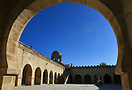 The courtyard of the fortified mosque in Sousse, Tunisia.