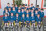 Pupils at the Holy Family National School, Rathmore pictured during their first day at the school on Thursday...................................................................................................