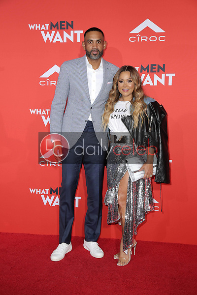 """Grant Hill, Tamia<br /> at the """"What Men Want"""" Premiere, Village Theater, Westwood, CA 01-28-19<br /> David Edwards/DailyCeleb.com 818-249-4998"""