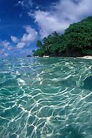 Ofu Beach, National Park of American Samoa on the island of Ofu.