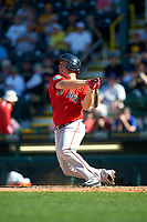 Boston Red Sox pinch hitter Tim Roberson (38) at bat during a Spring Training game against the Pittsburgh Pirates on March 9, 2016 at McKechnie Field in Bradenton, Florida.  Boston defeated Pittsburgh 6-2.  (Mike Janes/Four Seam Images)