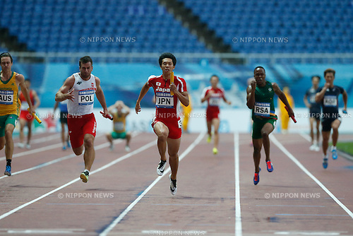 Kotaro Taniguchi (JPN), JULY 12, 2015 - Athletics : The 28th Summer Universiade 2015 Gwangju Men's 4x100m relay Final at the Gwangju Universiade Main Studium in Gwangju, South Korea. (Photo by Takashi OKUI/AFLO)