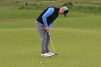 Mark Shanahan (West Waterford) on the 1st green during Round 2 of The East of Ireland Amateur Open Championship in Co. Louth Golf Club, Baltray on Sunday 2nd June 2019.<br /> <br /> Picture:  Thos Caffrey / www.golffile.ie<br /> <br /> All photos usage must carry mandatory copyright credit (© Golffile   Thos Caffrey)