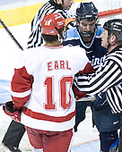 Robbie Earl, Matt Duffy - The University of Wisconsin Badgers defeated the University of Maine Black Bears 5-2 in their 2006 Frozen Four Semi-Final meeting on Thursday, April 6, 2006, at the Bradley Center in Milwaukee, Wisconsin.  Wisconsin would go on to win the Title on April 8, 2006.