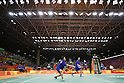 Hiroyuki Endo &amp; Kenichi Hayakawa (JPN), <br /> AUGUST 15, 2016 - Badminton : <br /> Men's Doubles Quarter finals vs GBR<br /> at Riocentro - Pavilion 4 during the Rio 2016 Olympic Games in Rio de Janeiro, Brazil. <br /> (Photo by Yusuke Nakanishi/AFLO SPORT)