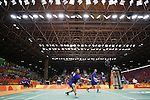 Hiroyuki Endo &amp; Kenichi Hayakawa (JPN), <br /> AUGUST 15, 2016 - Badminton : <br /> Men's Doubles Quarter finals vs GBR<br /> at Riocentro - Pavilion 4 during the Rio 2016 Olympic Games in Rio de Janeiro, Brazil. <br /> (Photo by Yusuke Nakanishi/AFLO SPORT)