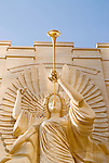 One of the signature angels on the front of Bass Performance Hall in downtown Fort Worth, Texas.