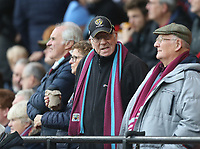 Burnley fans<br /> Photographer Rob Newell/CameraSport<br /> <br /> The Premier League - Watford v Burnley - Saturday 23rd November 2019 - Vicarage Road - Watford <br /> <br /> World Copyright © 2019 CameraSport. All rights reserved. 43 Linden Ave. Countesthorpe. Leicester. England. LE8 5PG - Tel: +44 (0) 116 277 4147 - admin@camerasport.com - www.camerasport.com