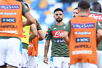 Lorenzo Insigne of Napoli warms up prior to the Serie A football match between SSC  Napoli and SPAL at stadio San Paolo in Naples ( Italy ), June 28th, 2020. Play resumes behind closed doors following the outbreak of the coronavirus disease. <br /> Photo Cesare Purini / Insidefoto