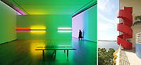 Dan Flavin Installation at Tadao Ando's Museum of Modern Art Fort Worth