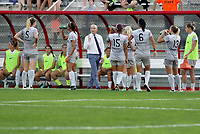 Piscataway, NJ - Sunday, September 24, 2017: Game action during a regular season National Women's Soccer League (NWSL) match between Sky Blue FC and the North Carolina Courage at Yurcak Field.
