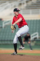 Kannapolis Intimidators relief pitcher Jake Elliott (37) in action against the Greensboro Grasshoppers at Kannapolis Intimidators Stadium on August 13, 2017 in Kannapolis, North Carolina.  The Grasshoppers defeated the Intimidators 4-1 in 10 innings in the completion of a game suspended on August 12, 2017.  (Brian Westerholt/Four Seam Images)