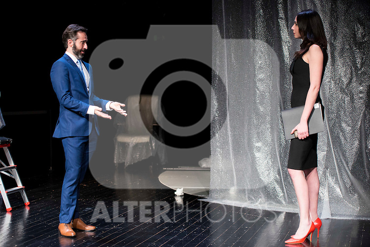 """Pepe Ocio and Marta Flich during the theater play of """"Debate"""", the comeback to the teather of Toni Canto at Teatros del Canal in Madrid. May 03, 2016. (ALTERPHOTOS/Borja B.Hojas)"""