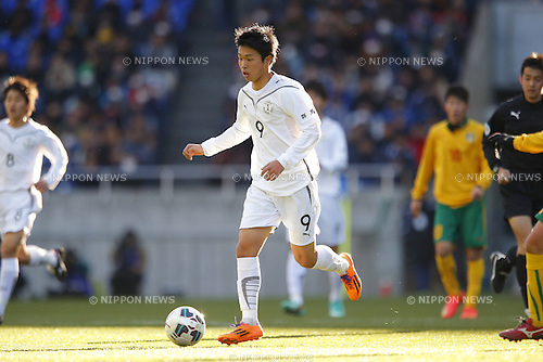 Ryota Aoyagi (Maebashi Ikuei), <br /> JANUARY 12, 2015 - Football / Soccer : <br /> 93rd All Japan High School Soccer Tournament final match between Maebashi Ikuei 2-4 Seiryo at Sitama Stadium 2002, Saitama, Japan. <br /> (Photo by Yusuke Nakanishi/AFLO SPORT) [1090]