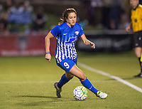 Boyds, MD - April 16, 2016: Boston Breakers forward Stephanie McCaffrey (9). The Washington Spirit defeated the Boston Breakers 1-0 during their National Women's Soccer League (NWSL) match at the Maryland SoccerPlex.