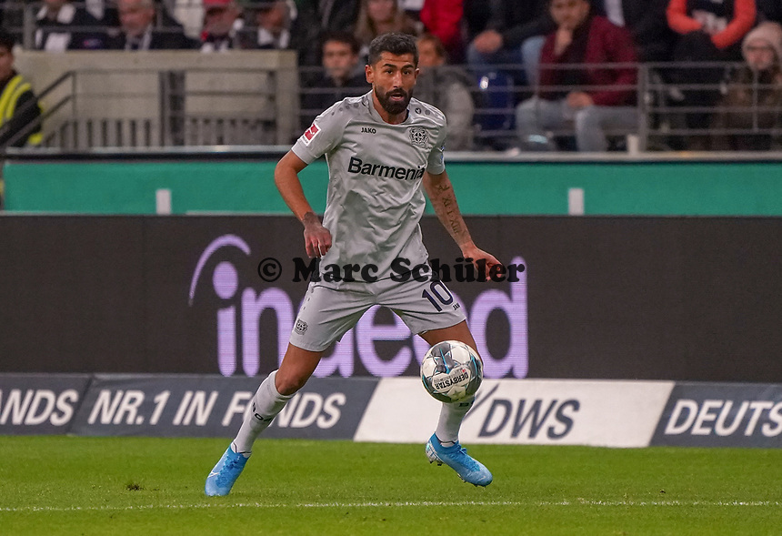 Kerem Demirbay (Bayer Leverkusen) - 18.10.2019: Eintracht Frankfurt vs. Bayer 04 Leverkusen, Commerzbank Arena, <br /> DISCLAIMER: DFL regulations prohibit any use of photographs as image sequences and/or quasi-video.