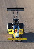 Feb 23, 2019; Chandler, AZ, USA; NHRA top fuel driver Richie Crampton during qualifying for the Arizona Nationals at Wild Horse Pass Motorsports Park. Mandatory Credit: Mark J. Rebilas-USA TODAY Sports