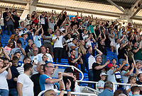 Blackburn Rovers fans applaud their team at the final whistle after a 2-1 win<br /> <br /> Photographer David Horton/CameraSport<br /> <br /> The EFL Sky Bet Championship - Reading v Blackburn Rovers - Saturday 21st September 2019 - Madejski Stadium - Reading<br /> <br /> World Copyright © 2019 CameraSport. All rights reserved. 43 Linden Ave. Countesthorpe. Leicester. England. LE8 5PG - Tel: +44 (0) 116 277 4147 - admin@camerasport.com - www.camerasport.com