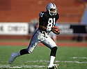 Oakland Raiders Tim Brown (81) during a game from his career with the Oakland Raiders. Tim Brown played for 17 years with 2 different teams, was a 9-time Pro Bowler and was inducted into the Pro Football Hall of Fame in 2015.