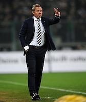FUSSBALL   1. BUNDESLIGA   SAISON 2011/2012   23. SPIELTAG Borussia Moenchengladbach - Hamburger SV         24.02.2012 Trainer Thorsten Fink (Hamburger SV) engagiert an der Seitenlinie