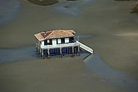 Europe/France/Aquitaine/33/Gironde/Bassin d'Arcachon: Cabanes tchanquées - Vue aérienne