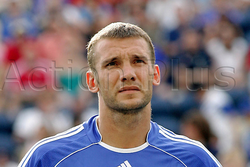 5 August 2006: Portrait of Chelsea striker Andriy Shevchenko  before the pre-season friendly match between The Major League Soccer All-Stars and Chelsea  played at Toyota Park in Bridgeview, Illinois. Chelsea lost the game 0-1 Photo: Wade Jackson/actionplus...060805 soccer football player