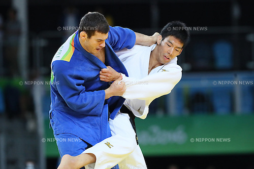 Takanori Nagase (JPN), <br /> AUGUST 9, 2016 - Judo : <br /> Men's -81kg 3rd place match <br /> at Carioca Arena 2 <br /> during the Rio 2016 Olympic Games in Rio de Janeiro, Brazil. <br /> (Photo by YUTAKA/AFLO SPORT)