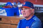 28 April 2017: New York Mets Manager Terry Collins sits in the dugout prior to a game against the Washington Nationals at Nationals Park in Washington, DC. The Mets defeated the Nationals 7-5 to take the first game of their 3-game weekend series. Mandatory Credit: Ed Wolfstein Photo *** RAW (NEF) Image File Available ***