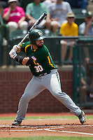 Baylor Bears catcher Josh Ludy #30 at bat during the NCAA Regional baseball game against Oral Roberts University on June 3, 2012 at Baylor Ball Park in Waco, Texas. Baylor defeated Oral Roberts 5-2. (Andrew Woolley/Four Seam Images)