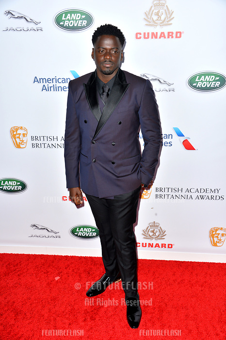 BEVERLY HILLS, CA. October 26, 2018: Daniel Kaluuya at the 2018 British Academy Britannia Awards at the Beverly Hilton Hotel.<br /> Picture: Paul Smith/Featureflash