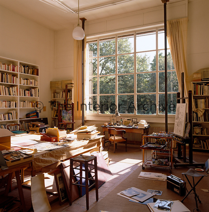 Light pours through this large window into artist Marc Chagall's former studio