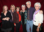 Director Steve Bakunas and his Family at The Red Barn Studio Theatre Off-Broadway production of 'Positions' at the Roy Arias Studio Theatre on October 10, 2012 in New York City.