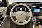 Steering wheel view of a 2009 Volvo XC 60