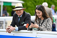 The course Vet and a member of the racecourse media team during Afternoon Racing at Salisbury Racecourse on 16th May 2019
