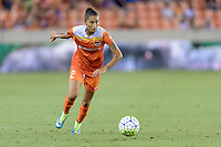 Poliana (2) of the Houston Dash brings the ball up the field against the Orlando Pride on Friday, May 20, 2016 at BBVA Compass Stadium in Houston Texas. The Orlando Pride defeated the Houston Dash 1-0.