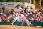 2 March 2013: St. Louis Cardinals pitcher Fernando Salas on the mound during a Spring Training game against the Washington Nationals at Roger Dean Stadium in Jupiter, Florida. The Nationals defeated the Cardinals 6-2 in their first meeting since the NLDS series in October of 2012. Mandatory Credit: Ed Wolfstein Photo *** RAW (NEF) Image File Available ***