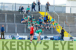 The Ballyduff subs on the terrace in Austin Stack Park v Fossa in the Junior Premier Football Club Championship.