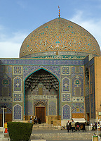 The Sheikh Lotfolllah Moque in Isfahan, built by Shah Abbas I between 1602 and 1619, is certainly the most exquisite mosque in Iran and has astonished and delighted travellers for centuries, including Robert Byron, who wrote lyrically of it in his 1937 masterpiece The Road to Oxiana.