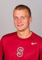 Maciek Romanowicz,  with the Stanford Men's Tennis Team. Photo taken on Monday, September 23, 2013.