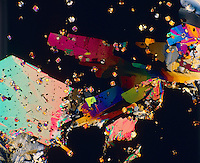 FRUCTOSE CRYSTALS - C6H1206<br /> 75x mag. Liquefied &amp; recrystallized, polarized light