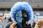 23 November 2013: UNC fan. The University of North Carolina Tar Heels played the Old Dominion University Monarchs at Keenan Stadium in Chapel Hill, NC in a 2013 NCAA Division I Football game. UNC won the game 80-20.