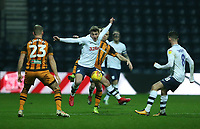 Preston North End's Ryan Ledson shields the ball from  Hull City's Kamil Grosicki<br /> <br /> Photographer Stephen White/CameraSport<br /> <br /> The EFL Sky Bet Championship - Preston North End v Hull City - Wednesday 26th December 2018 - Deepdale Stadium - Preston<br /> <br /> World Copyright &copy; 2018 CameraSport. All rights reserved. 43 Linden Ave. Countesthorpe. Leicester. England. LE8 5PG - Tel: +44 (0) 116 277 4147 - admin@camerasport.com - www.camerasport.com