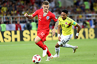 MOSCU - RUSIA, 03-07-2018: Johan MOJICA (Der) jugador de Colombia disputa el balón con Kieran TRIPPIER (Izq) jugador de Inglaterra durante partido de octavos de final por la Copa Mundial de la FIFA Rusia 2018 jugado en el estadio del Spartak en Moscú, Rusia. / Johan MOJICA (R) player of Colombia fights the ball with Kieran TRIPPIER (L) player of England during match of the round of 16 for the FIFA World Cup Russia 2018 played at Spartak stadium in Moscow, Russia. Photo: VizzorImage / Julian Medina / Cont