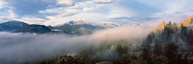 clearing storm above Estes Park in the Rocky Mountains, Colorado, USA