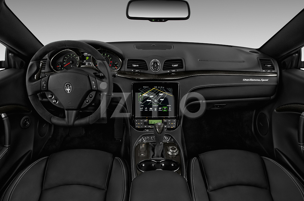 Stock photo of straight dashboard view of a 2018 Maserati GranTurismo Automatic 2 Door Coupe