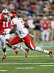 Houston Cougars wide receiver Deontay Greenberry (3) in action during the game between the University of Houston Cougars and the Southern Methodist Mustangs at the Gerald J. Ford Stadium in Dallas, Texas. SMU leads Houston 28 to 14 at halftime...