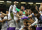 Real Madrid's Sergio Ramos celebrates with the trophy during the Champions League Final match at the Principality Stadium, Cardiff. Picture date: June 3rd, 2017. Pic credit should read: David Klein/Sportimage