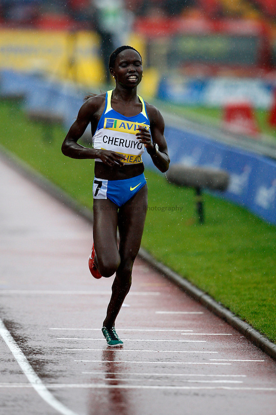 Photo: Richard Lane/Richard Lane Photography. Aviva British Grand Prix, Gateshead. 31/08/2008. Kenya's Vivian Cheruiyot wins the women's 3000m.